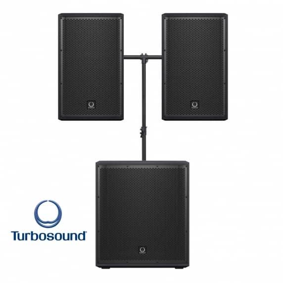 Turbosound Portable PA System with Bluetooth Bundle - 1000W