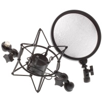 Universal Microphone Shock mount with built in Pop shield (DSM400 / LD Systems) - B STOCK