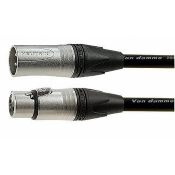 Van Damme XLR Microphone Lead Male to Female 10m Black