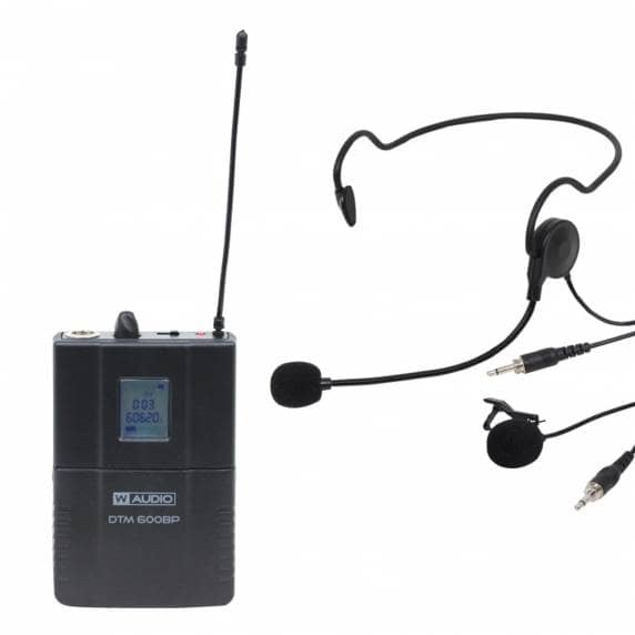 W Audio DTM 600BP Add On Beltpack Kit (606.0Mhz-614.0Mhz)