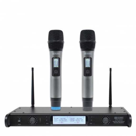 W Audio DTM 600H Twin Handheld Mic System (606.0Mhz-614.0Mhz)