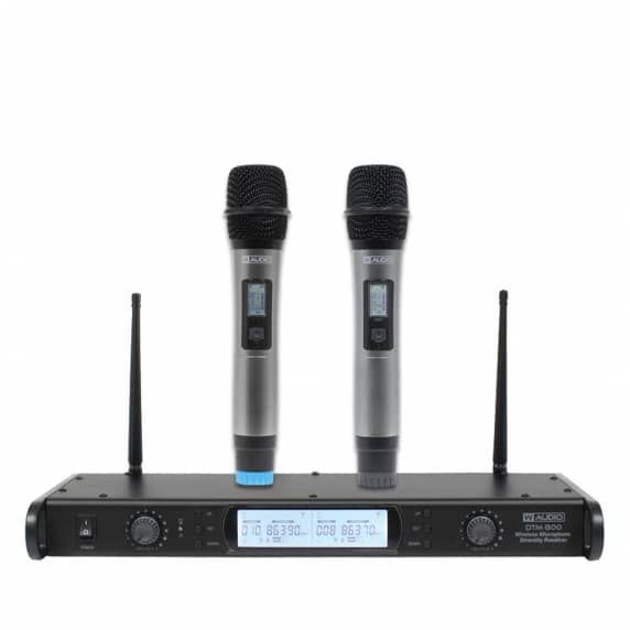 W Audio DTM 800H Twin Handheld Wireless Mic Sytem (863.0Mhz-865.0Mhz)