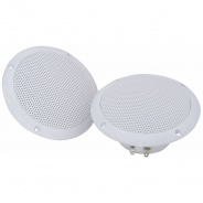 "Water Resistant Speakers 100w - 6.5"" Ceiling or Wall Mountable (White)"