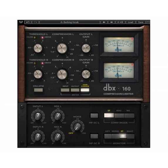 Waves dbx 160 Compressor / Limiter Plug-in (Serial Download)