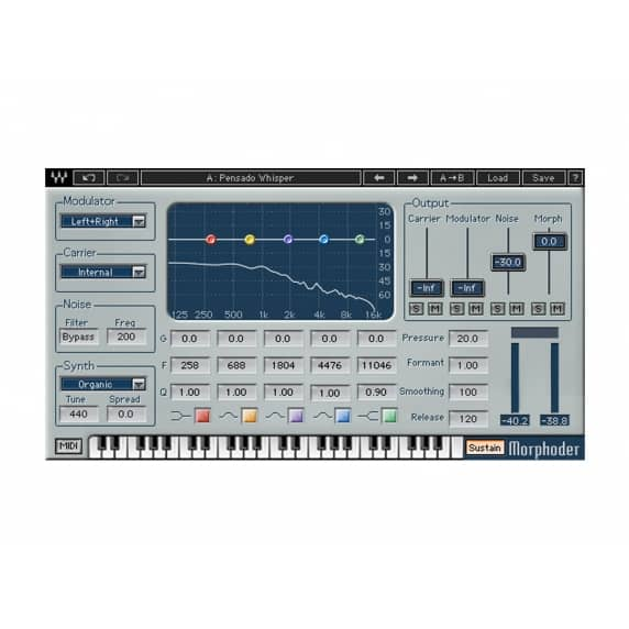 Waves Morphoder Vocoder Plug-in (Serial Download)