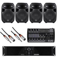 "Wharfedale Pro Indoor & Outdoor Install PA System | 4x 12"" Loudspeakers"