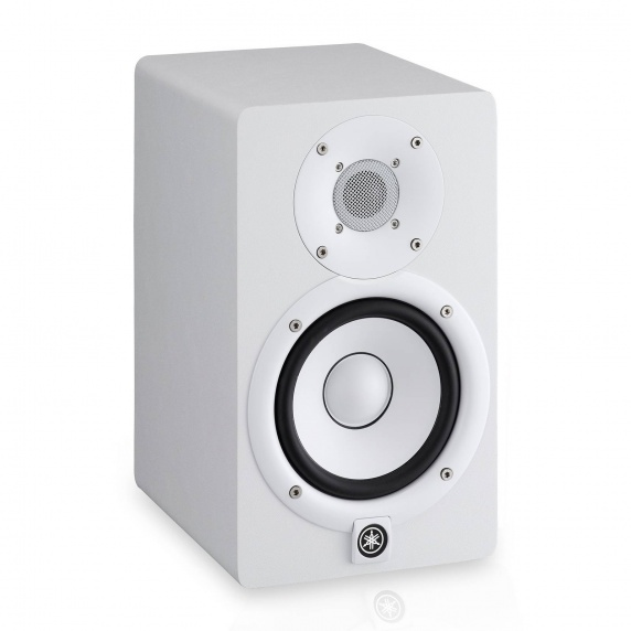 Yamaha hs5 white 5 active studio monitor 70 w for Yamaha hs5 speaker stands
