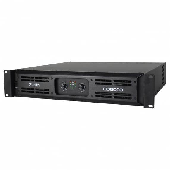 Zenith CD 8000 8000Wrms Power Amplifier, 2 Ohms Min.